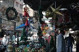 karachi pakistan christmas decorations stars bells christmas