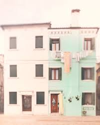 pastel wall art burano italy photography mint green home decor
