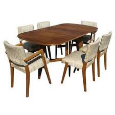 Scandinavian Dining Room Furniture Scandinavian Dining Set 6 Chairs Drop Leaf Table Mr7320 Ebay