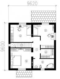 Houses Plan Three Room House Plan 6765