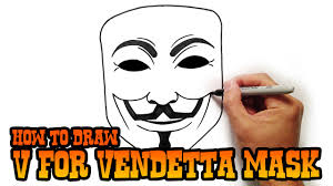 Easy To Draw Scary Halloween Pictures by How To Draw V For Vendetta Youtube
