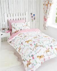Kids Single Duvet Cover Sets Girls Kids Bedding Pink Duvet Sets Unicorns Horses Owls Fairy
