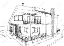Modern House Drawing by House Architecture Sketch Home Design Ideas