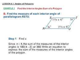 Formula For Interior Angles Of A Polygon Interior Angles Of A Convex Polygon Formula