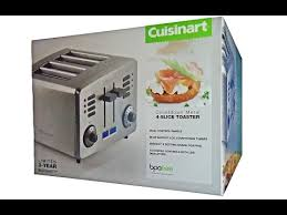 Cuisinart Toaster 4 Slice Stainless Cuisinart 4 Slice Toaster Rb T390 Pcc Unboxing Costco Youtube