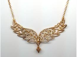 gold wings necklace images Angel wings pendant precious metals ydfxc8g8a by cwestbrook jpg