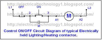 one line diagram of simple contactor circuit