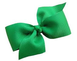 green hair bow etsy