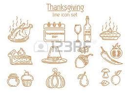 thanksgiving day symbols set happy thanksgiving give thanks