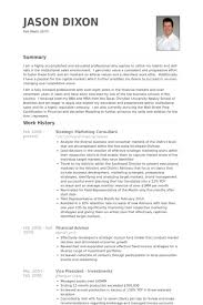 Consulting Resume Examples by Strategic Marketing Consultant Resume Samples Visualcv Resume