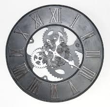 wand uhr wanduhr zahnrad uhr loft aus metall 84605 d 39 cm designuhr