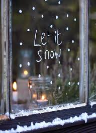 snow decoration awesome window christmas decorations applying let it snow written on