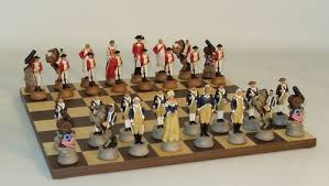 american revolution chess set rosewood chess board
