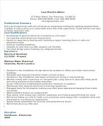 Optician Resume Sample by 10 Electrician Resume Templates Free Sample Example Format