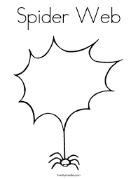 Spider Web Coloring Page Twisty Noodle Spider Web Coloring Page