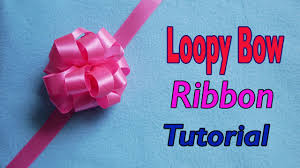 loopy bow how to make loopy puff ribbon bow