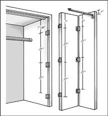 how to hang bi fold doors dummies Bifold Closet Door Hinges