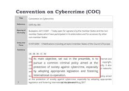 Council Of Europe Convention On Cybercrime Budapest Cybercrime Deterrence And International Legislation Evidence From Di