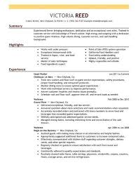 sle resume for bartender position descriptions bartender duties resume hitecauto us