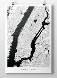 Alfred New York Map by The Map Crafter Manhattan Map Manhattan And Cartography