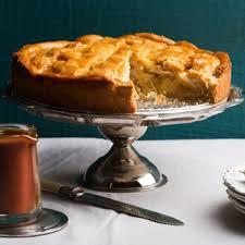 apple crostata with spiced caramel sauce recipe epicurious