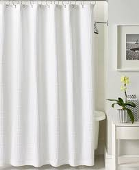 Luxury Shower Curtain White Cotton Closeout Hotel Collection Bath Accessories Waffle Shower Curtain