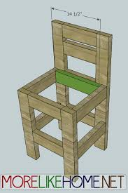more like home day 23 build a chunky bar stool