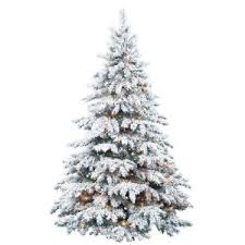 buy snow laden flocked artificial trees trees