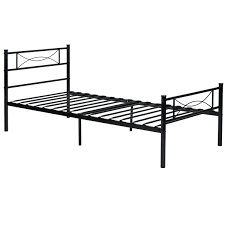 Collapsible Bed Frame Metal Platform Bed Frame And Headboard Twin Full Size Walmart Com