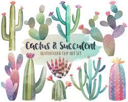 unique clip art vinyl decals by kennasatodesigns on etsy watercolor cactus clipart watercolor clipart cactus clipart succulent clip art digital watercolor