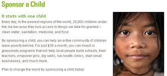 sponsor a child and change the world chow dot