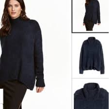 s turtleneck sweater 63 h m sweaters h m brand navy wide cut turtleneck