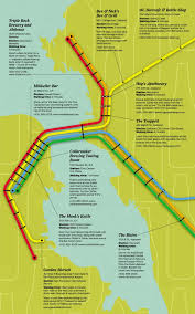 Bart Lines Map by For Beer Lovers A Pub Crawl By Bart Sfgate