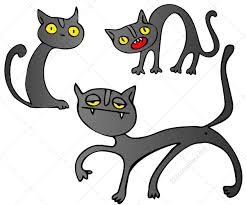 halloween greeting cards cat vector pack buy vectors for halloween greeting cards and