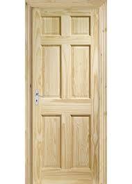 Pine 6 Panel Interior Doors Panel Clear Pine Door 626mm X 2040mm 40mm