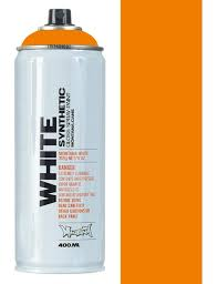 montana white bright orange spray paint 400ml spray paint