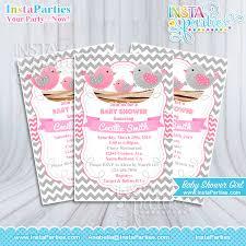 bird baby shower birds baby shower invitations girl pink bird invitation nest