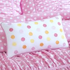 Polka Dot Comforter Queen Amazon Com Mizone Lia 4 Piece Comforter Set Pink Full Queen