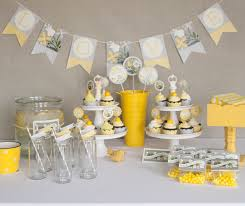 decorating ideas stunning image of yellow and grey birthday