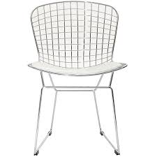 happy home designer copy furniture amazon com modway bertoia style side chair with white cushion