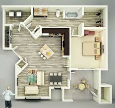 Floor Plan View 25 One Bedroom House Apartment Plans