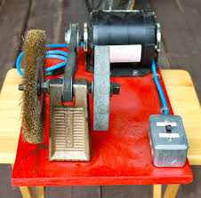 Mini Bench Grinder Portable Bench Grinder Using Old Furnace Motor