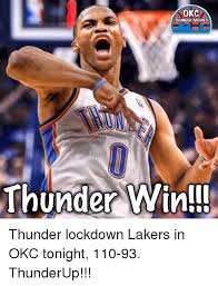 Okc Memes - okc thunder memes thunder win thunder lockdown lakers in okc