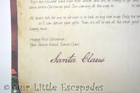 baby u0027s first christmas letter from santa personalised letters