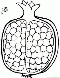 123 coloring pages pomegranate coloring pages