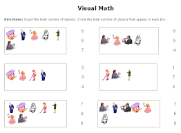 visual math worksheets maker sample counting multiple choice