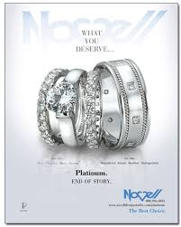 novell wedding bands what you deserve platinum wedding band ad featured in the nest