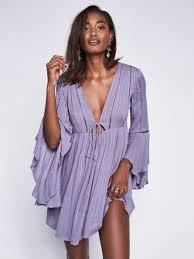 free people romeo mini dress in purple lyst