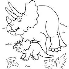 cute triceratops baby dinosaur coloring pages jurassic