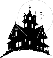 halloween transparent background haunted house free stock photo illustration of bats flying by